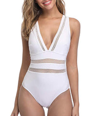 Deep Plunge Sexy Hollow Out Sexy Monokini - Tempt Me
