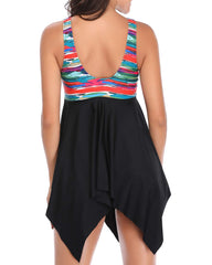 High Waisted Low Rise Triangle Tankini Swimdress - Tempt Me