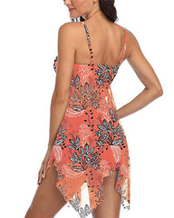 Floral Mesh Tankini Swimdress - Tempt Me
