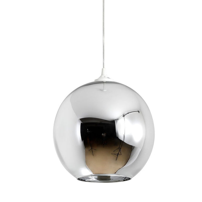 Mirror Ball Shade Pendant Lamp - Chrome