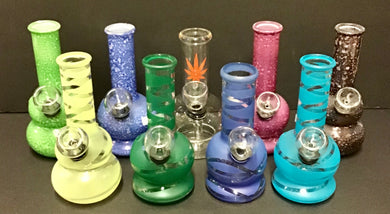 "4"" Mini Glass Bubblers"
