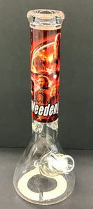 "14"" Avengers 9mm Glass Bong w/Ice Pinch (Weedengers)"