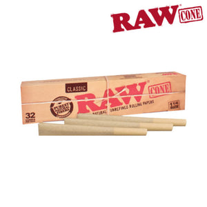 "RAW Pre-Rolled Cone 1 1/4"" 32 pack"