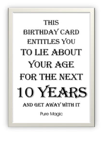 Wholesale Greeting Cards.  Designer Greeting Card birthday card with humour black and white blank inside