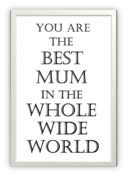 Wholesale Greeting Cards. Best mum in the whole wide world greeting card.  Don't wait for mother's day.  Send it now.