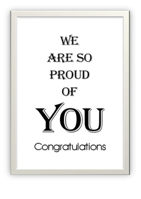 Wholesale Greeting Cards.  Designer Graduation or Congratulations Card for any achievement.  Proud of You.