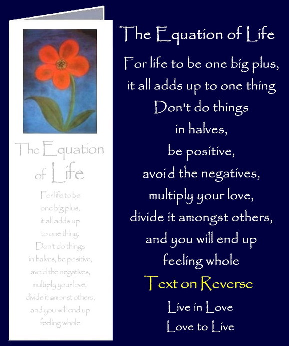 The Equation of Life by Peter Karsten from his book