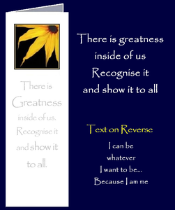 Inspirational quote about recognising greatness within.  Taken from the little book of wisdom Be Great Be You by Peter Karsten.
