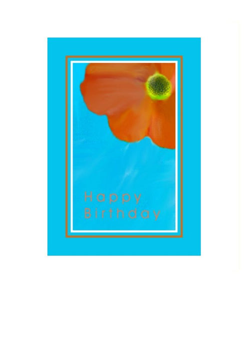 Wholesale Greeting Cards- Poppy on a birthday card by Peter Karsten