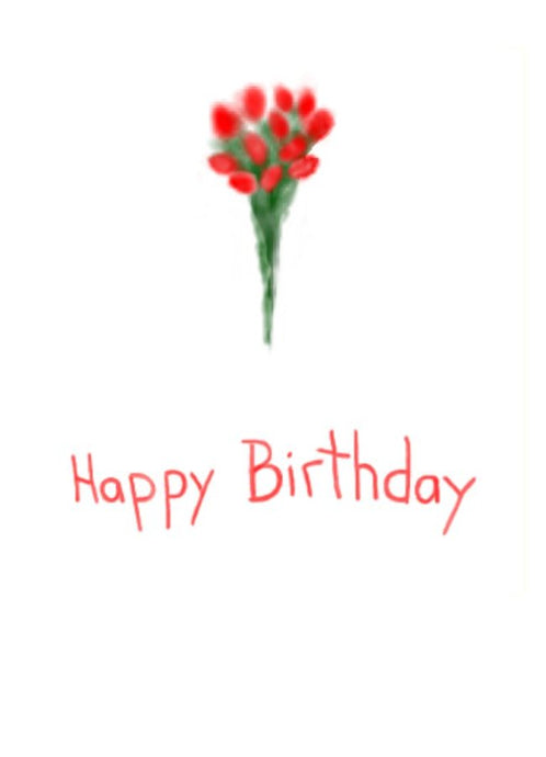 A Bunch of Flowers on this simply sweet birthday card.  Wholesale Greeting Cards in New Zealand