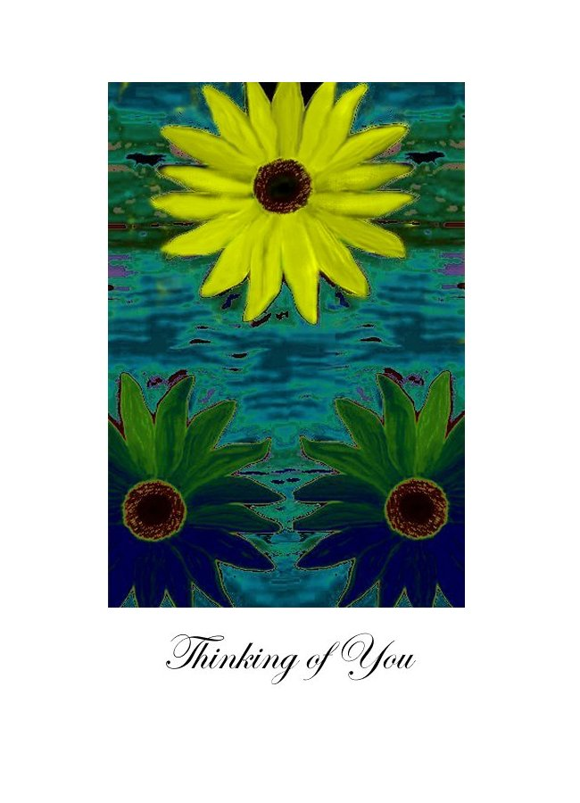 Thinking of you floral greeting card - sad but with a glimpse of hope.  Comforting.