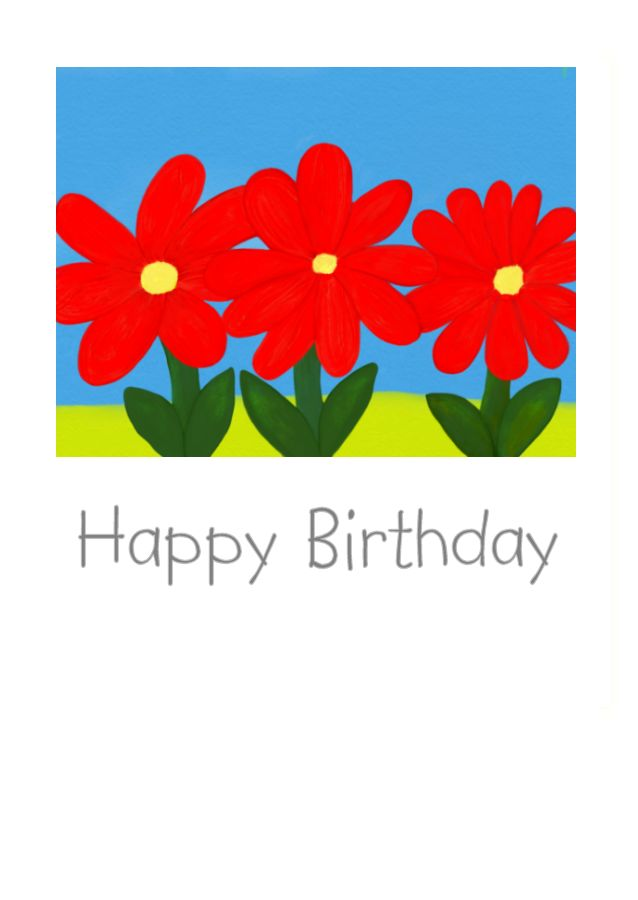 Happy Birthday greeting card with nice and bright happy image.
