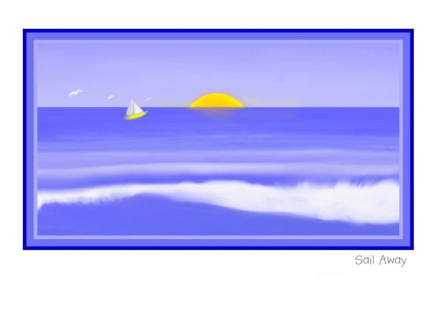 Sail Away Wholesale Greeting Cards by New Zealand Artist Peter Karsten