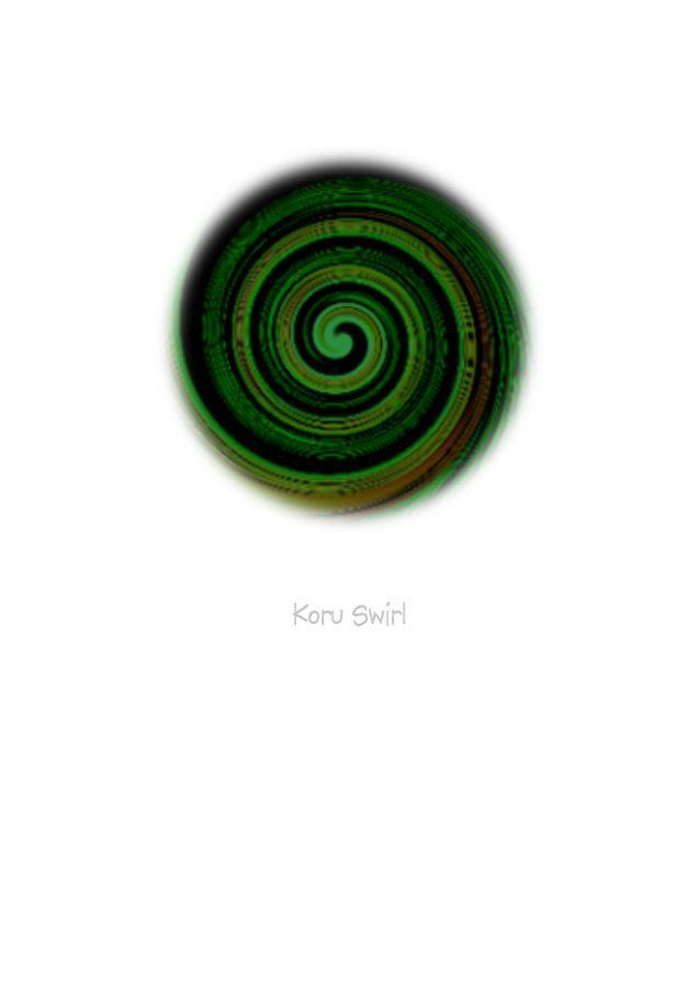 Wholesale Greeting Cards.  Art Card Koru Swirl by New Zealand artist Peter Karsten. This contemporary artwork of the Koru symbolises New Life, New Beginnings, Growth, Peace and Harmony.