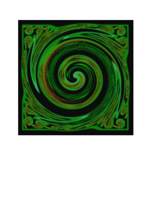 Wholesale Greeting Cards. Art Card Koru Symbol by New Zealand Artist Peter Karsten. This contemporary artwork of the Koru symbolises New Life, New Beginnings, Growth, Peace and Harmony.