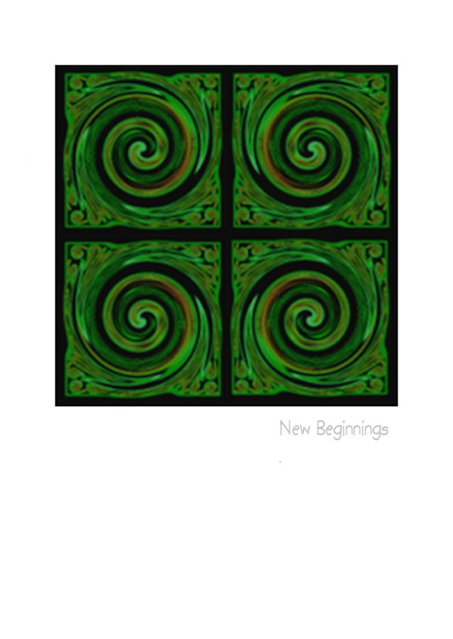 Wholesale Greeting Cards. Contemporary art of Koru by Nz Artist Peter Karsten.