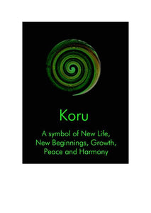 Koru - New Beginnings by NZ Artist Peter Karsten.  Suppliers of Wholesale Greeting Cards, Art Cards & Note Cards.