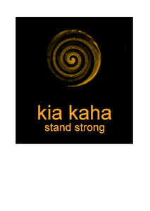 Greeting card, note card, art card by New Zealand Artist Peter Karsten.  Kia Kaha is Maori for Stand Strong.  The image symbolises New Life, New Beginnings, Growth, Peace and Harmony.