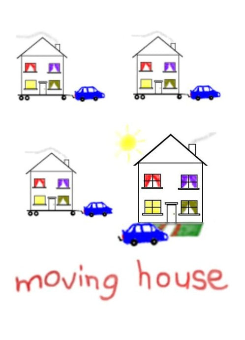 New Home and Moving House Greeting Card by NZ Artist Peter Karsten.