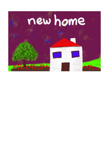 A nice and colourful New Home Card by NZ Artist Peter Karsten