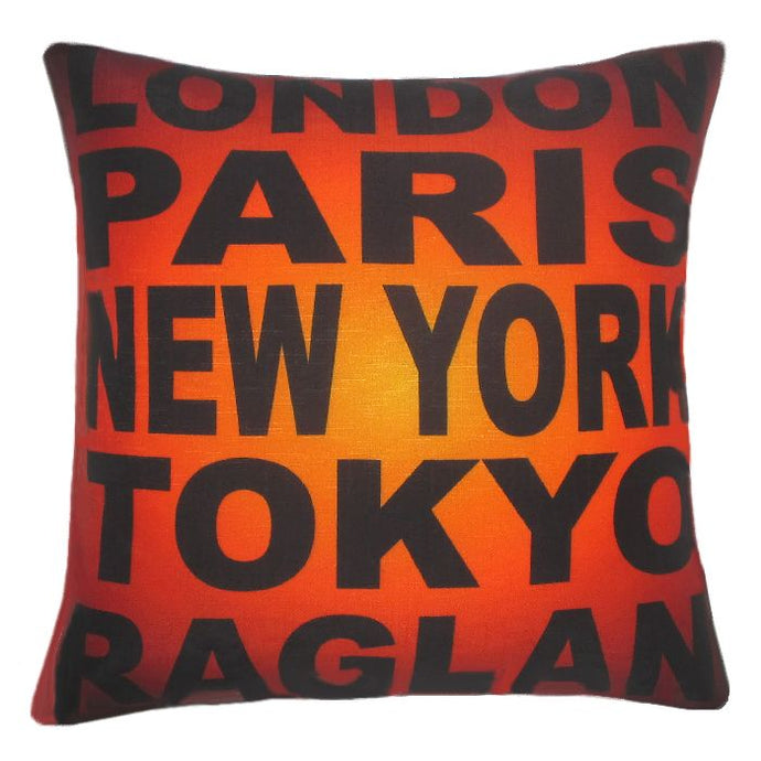 Souvenir of Raglan. Vibrant colours on this Cushion Cover by Chelsea Design NZ.  Kiwiana and great Souvenir of New Zealand