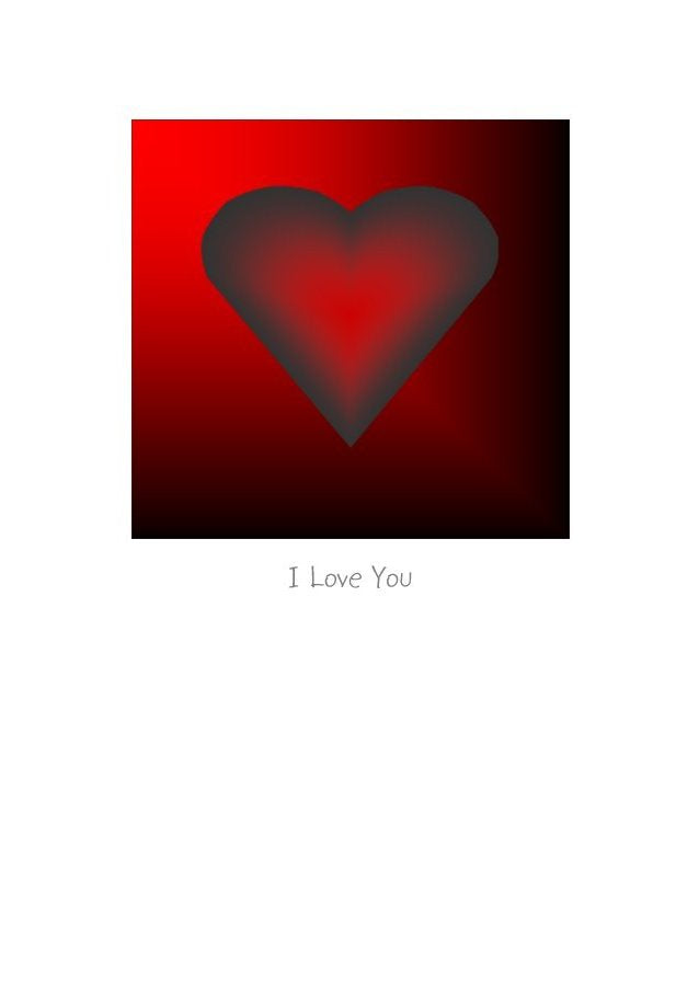 Love Heart 101 by Peter Karsten - I love You on a greeting card for Valentines Day and every other day of the year.