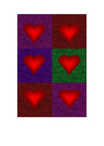 Multiple love hearts on a greeting card by Peter Karsten