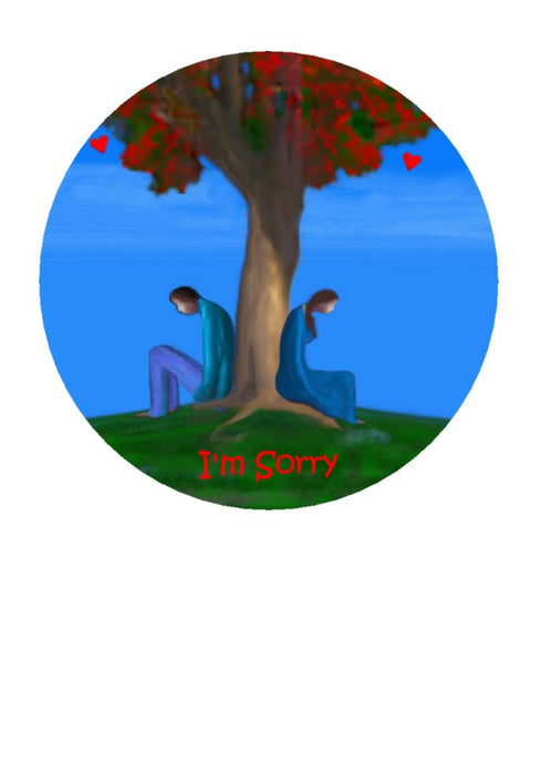 I'm Sorry greeting card - aristotle - sorry by Nz Artist Peter Karsten