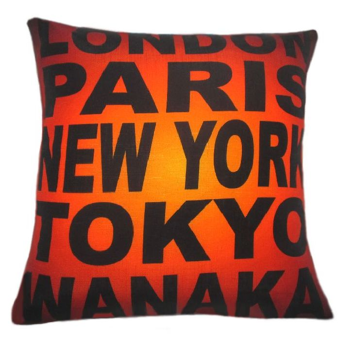 A souvenir of Wanaka New Zealand. Cushion Cover 45cm x 45cm