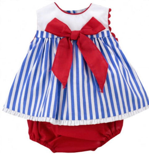 Striped dress and knicker set