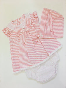 Striped Bow dress and knicker set