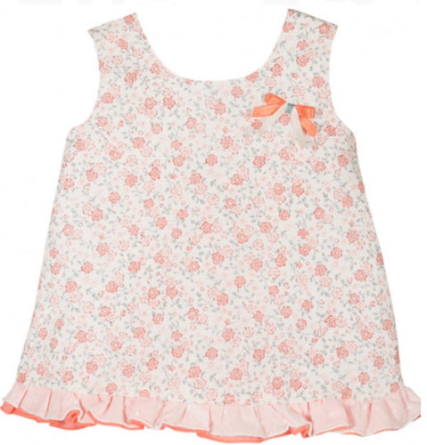 Flowery summer dress with back bow