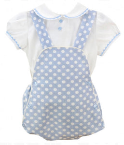 Blue Polka Dot Romper set