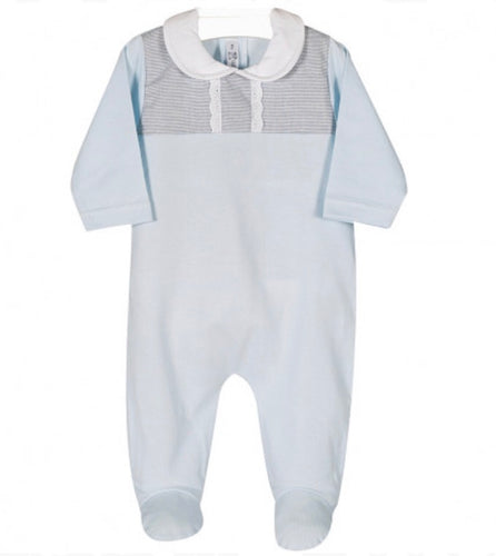 Blue and Grey Babygrow