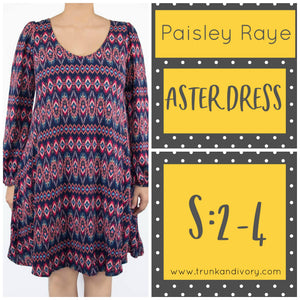 Paisley Raye Aster Keyhole Dress Size S Print Shop at www.trunkandivory.com