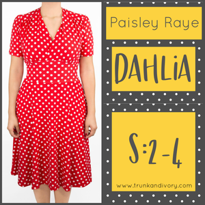 Paisley Raye Dahlia Tea Dress-Red/White Polka Dot-Size S By, Trunk and Ivory, Shop now at www.trunkandivory.com