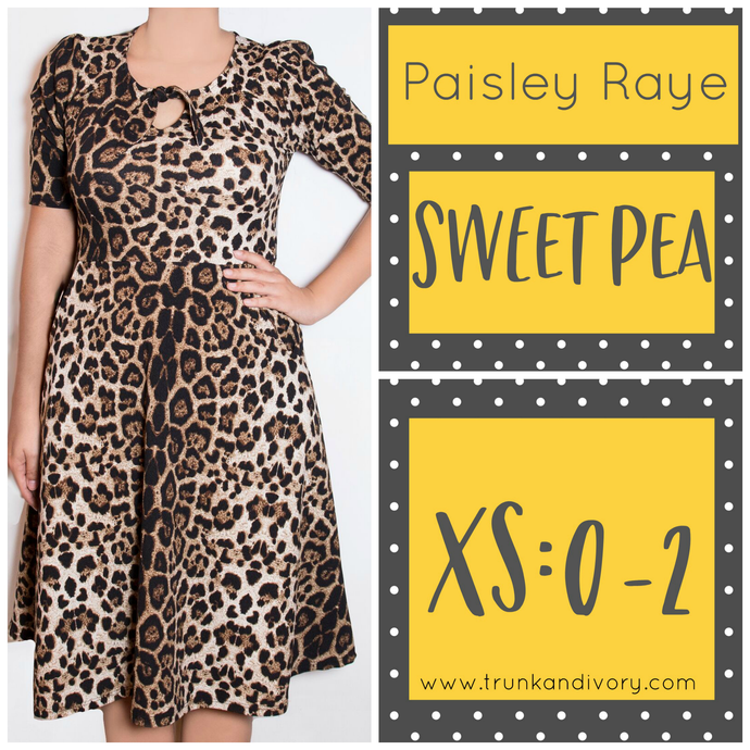 Paisley Raye Sweet Pea Keyhole Dress-Animal Print-XS By, Trunk and Ivory, Shop now at www.trunkandivory.com