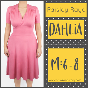 Paisley Raye Dahlia Tea Dress-Solid Pink-Size Medium By, Trunk and Ivory, Shop now at www.trunkandivory.com