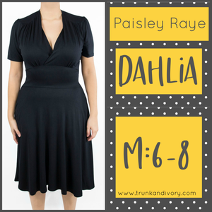 Paisley Raye Dahlia Tea Dress-Solid Black-Size Medium By, Trunk and Ivory, Shop now at www.trunkandivory.com