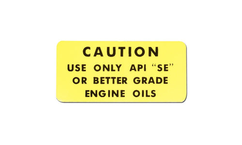 Decal - Engine Oil Caution FJ40, FJ45, FJ55, FJ60 1973-1982
