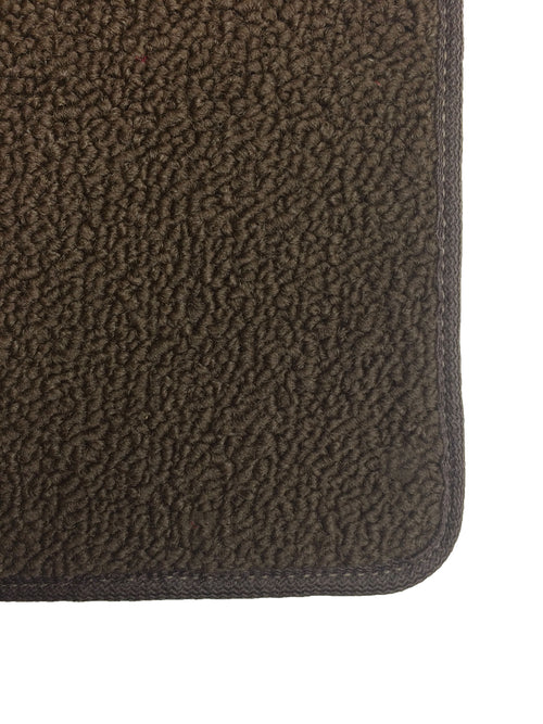 Floor Mat Set / Front - 2 Piece Rubber / Carpet - FJ62 1988-1990