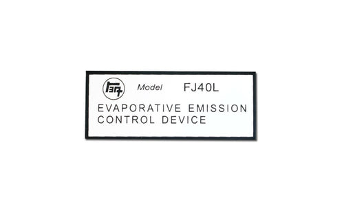 Decal - Engine Evaporative Emission Control FJ40, FJ45 1972-1978