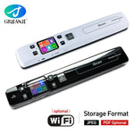 Mini Document & Images Scanner A4 Size JPG/PDF Format Wifi 1050DPI High Speed Portable LCD Display