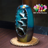 Waterfall Incense Burner Ceramic Incense Holder With 10 ConesFREE