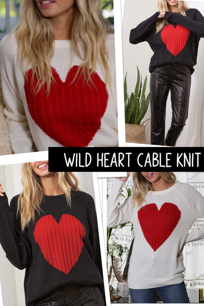 Wild Heart Knit Sweater
