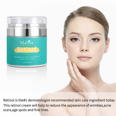 Mabox Retinol Moisturizer Face Cream Vitamin E Collagen Retin Anti Aging Wrinkles Acne Hyaluronic Acid Anti-aging Serum