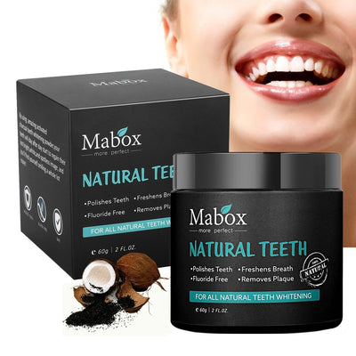 Mabox Activated Charcoal Teeth Whitening Powder Natural Whitening Teeth, Personal Coconut Charcoal