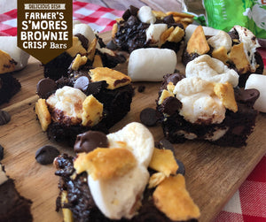 Farmer's S'mores Brownie Crisp Bars