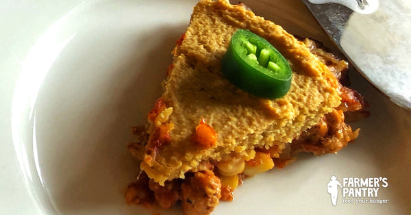 Farmer's Spicy Chili Cornbread Crisps Pie