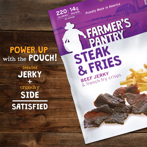 Steak & Fries - Beef Jerky Snacks